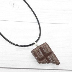 Polymer Clay Milk Chocolate Pendant Necklace - Wearable Food Jewellery