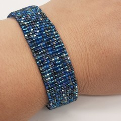Blues Beaded Bracelet Blue Summer Fun Trendy