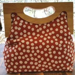 Brown spot handbag