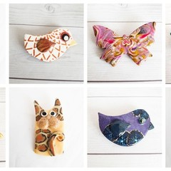 Funky Animal Brooches, Cat Brooch, Fish Brooch, Bird Brooch, Butterfly Brooch Po