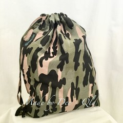Drawstring Bag   - GREEN CAMO