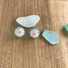 Beaded Circle Stud earrings