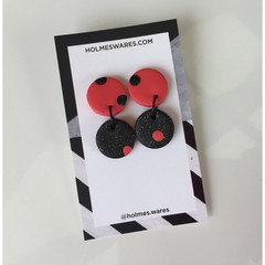 SALE - Double Circle Earrings