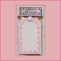 Hand Embroidered Gift Tag