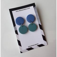 SALE - Double Circle Earrings