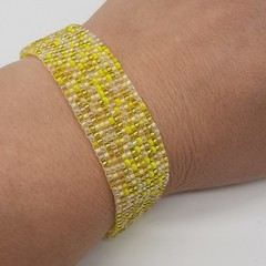 Yellows Beaded Bracelet Bright sunshine Summer Fun Trendy
