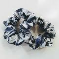 Set of 2 Scrunchies / BLUE - FLOWER