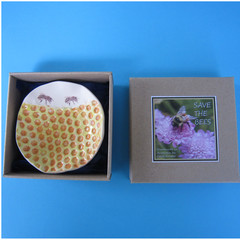 Small Save The Bees Dish
