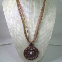 Gothic Style Necklace with Large Bronze/Alloy Pendant with free postage
