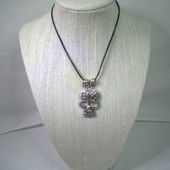 Gothic style Neck Lace with Sugar Skull pendant and free postage