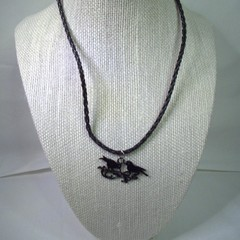 Gothic Style Necklace with Black Bird Pendant with free postage