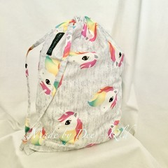 Drawstring Bag:  RAINBOW UNICORN