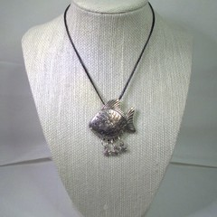 Necklace with Large Fish and baby fish Pendant with free postage