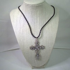 Gothic Style Necklace with decorative cross pendant with free postage