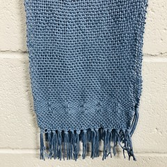 Blue Handwoven Scarf