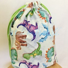 Drawstring Bag:  DINOSAUR STOMP