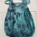 Blue Empire Waist Bubble Romper 12 Months