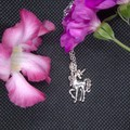 Childrens Necklace with Alloy Unicorn Pendant with free postage