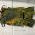 Organic Cotton Hand Dyed Singlet and Shorts: Size 6 Months