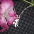 Childrens Necklace with Alloy Puppy Pendant with free postage