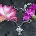 Childrens Necklace with Alloy Aeroplane Pendant with free postage