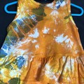 Hand dyed Scalloped Edge Sleeveless  Skirt Romper: Size 12 Months