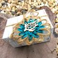 Ocean Beach Embellishment Jute Paper Raffia Natural Fibre Floral Tag EcoFriendly