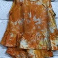Hand dyed Scalloped Edge Sleeveless  Skirt Romper: Size 12 Months