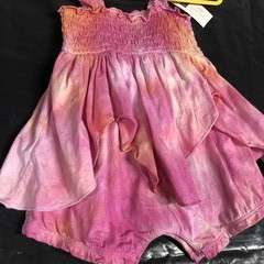Hand Dyed Fairy Romper: Size 12 Months