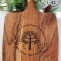 Personalised Etched Timber Acacia Boards - Tree of life and Love tree