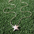 Star - Handmade Sterling Silver Pendant with Snake Chain by Purplefish Designs