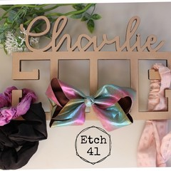 Personalised Name Hair Accessory Holder - Raw