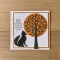 Fox dreams. Handmade card