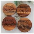 Personalised Chunky Timber Acacia Coasters- Musical Notes
