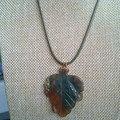 AGATE LEAF PENDANT with complimentary necklace