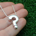 Question Mark - Handmade Sterling Silver Pendant with Snake Chain