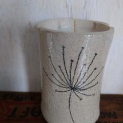Pottery soy candle