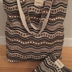 Indigenous print tote bag