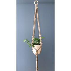 Macrame planthanger - taupe