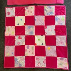 Baby Quilt - Pram Blanket - Fleecy - Velour  - Pastels prints