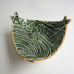 Large Textured Origami Bowl