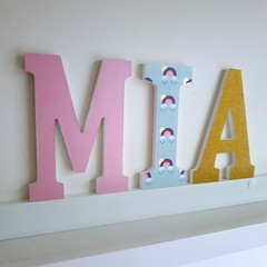Wall or Door Name Plaque. 15cm. 3 letters.