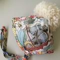 BONNET for GIRL made with MAY GIBBS fabric KOOKABURRA and KOALA