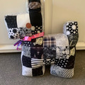 Quilted Scotty dog cushion - Patchwork, Softie, Toy