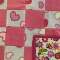 Baby Quilt Baby bunny rug Babys first quilt , Fleece