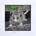 Bushfire Crisis Fundraising / Pygmy Possum Lino Cut Print / Animal Wildlife Art