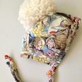 BONNET  made with MAY GIBBS fabric KOOKABURRA and KOALA  hat