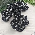 Button Scrunchie - Black and White
