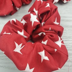 Star Scrunchie - Red and White
