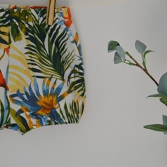 Cotton / linen bloomers / tropical print / girls bloomers/